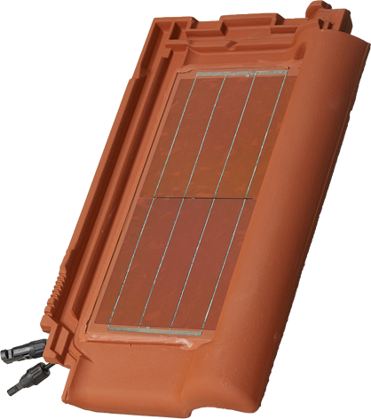 Solar tile red right